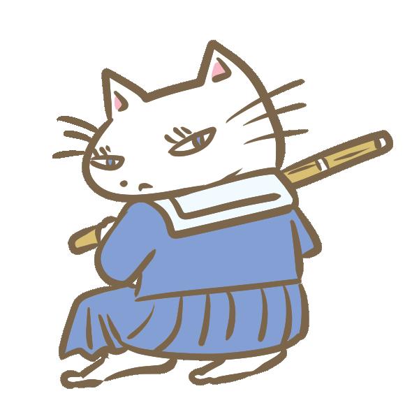 ヤンキー猫(女子)のイラスト