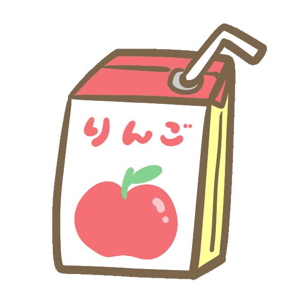 紙パック飲料(りんご)のイラスト