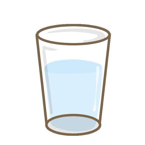 コップの水のイラスト