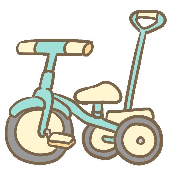 三輪車(かじとり付き)のイラスト