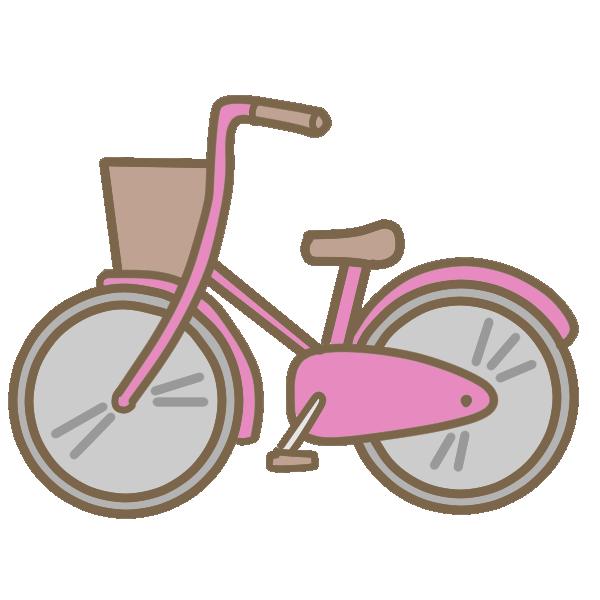 自転車(ピンク)のイラスト