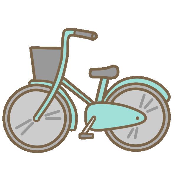 自転車(ブルー)のイラスト