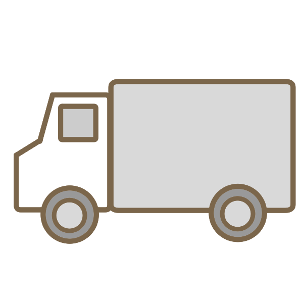 白いトラックのイラスト