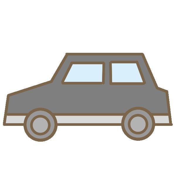 乗用車(黒)のイラスト
