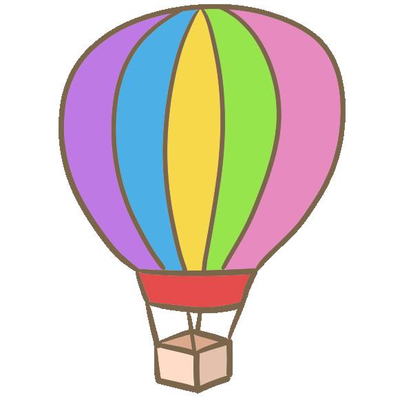 気球(単体)のイラスト