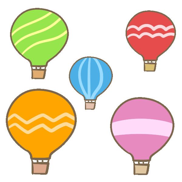 気球(複数)のイラスト