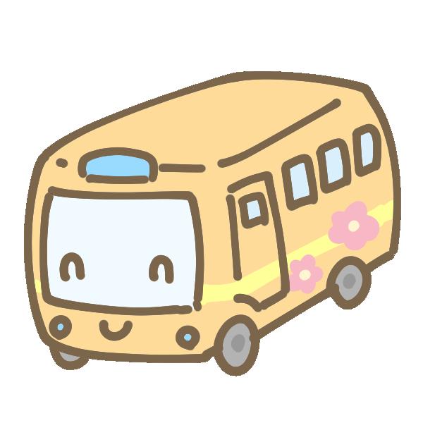 かわいい園バスのイラスト