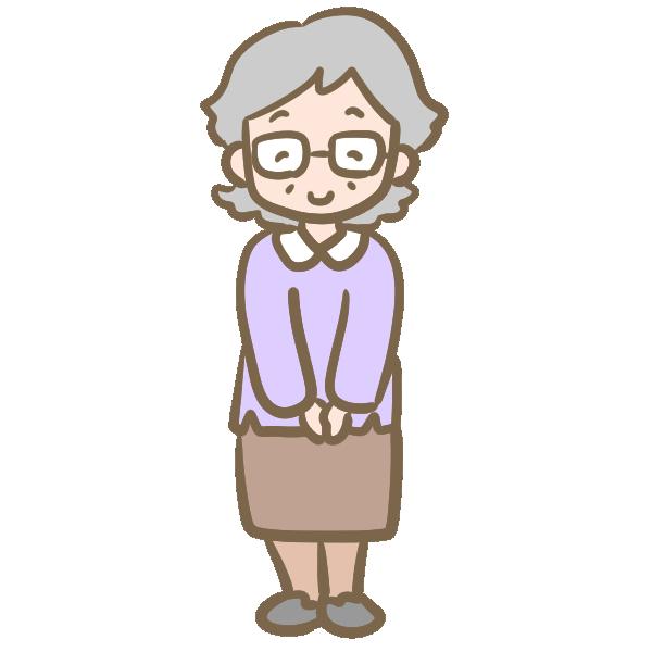 おばあちゃん(メガネ)のイラスト