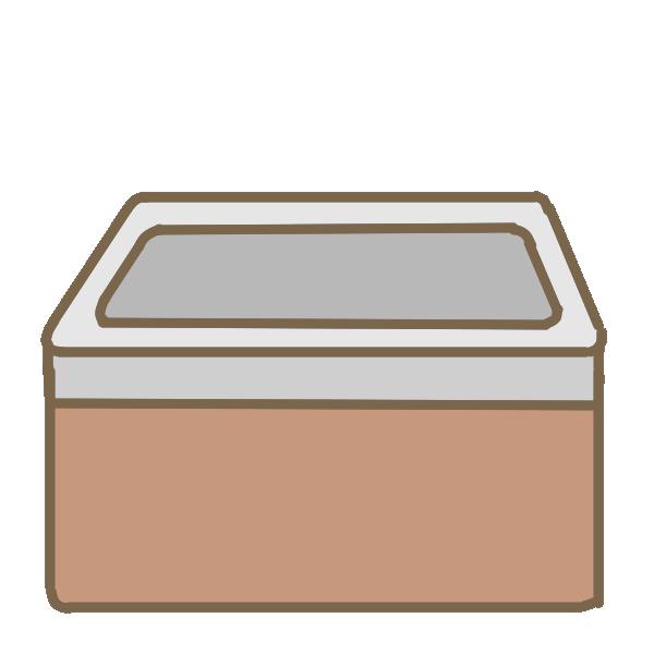 レトロなお風呂(金属)のイラスト