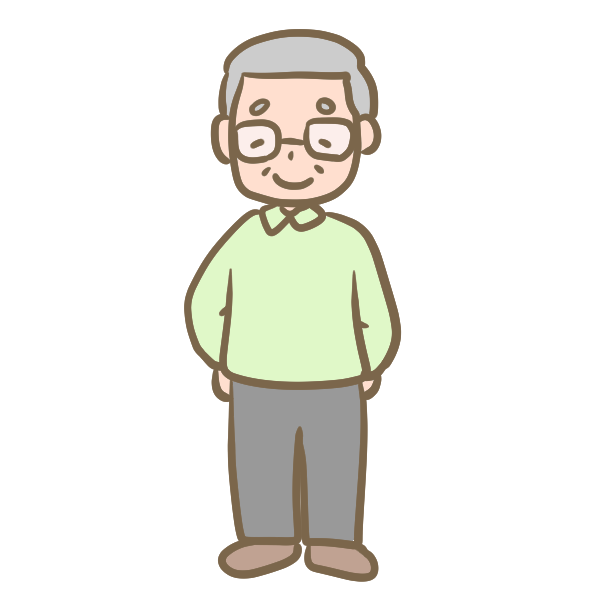 おじいちゃん(メガネ)のイラスト