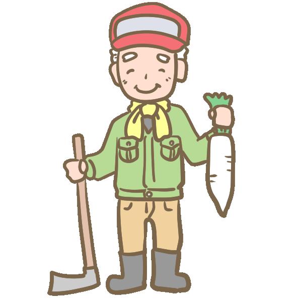 「おじいさん 農家 イラスト」の画像検索結果