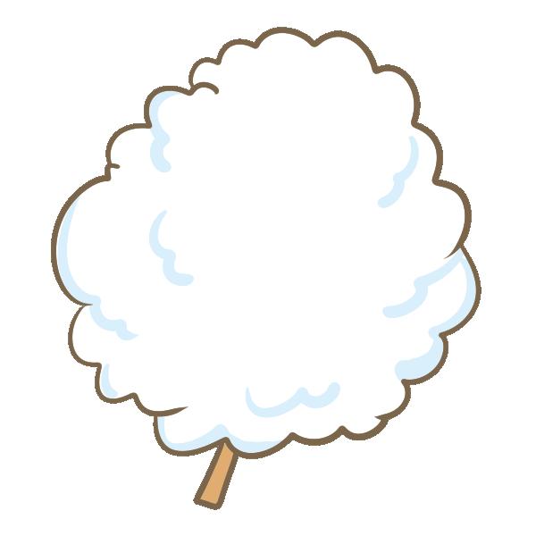 綿菓子のイラスト