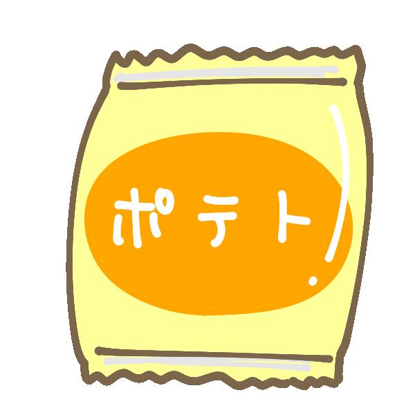 ポテトチップスのイラスト