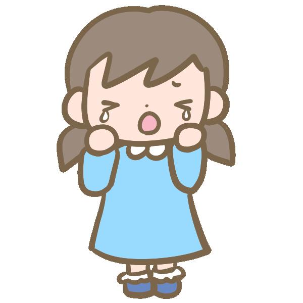 可愛い女の子(泣く)のイラスト