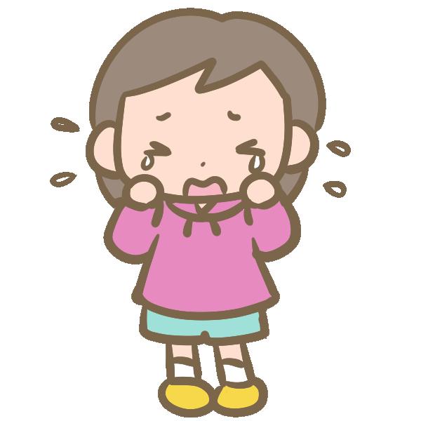 ボーイッシュな女の子(泣く)のイラスト