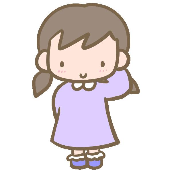 可愛い女の子(照れる)のイラスト