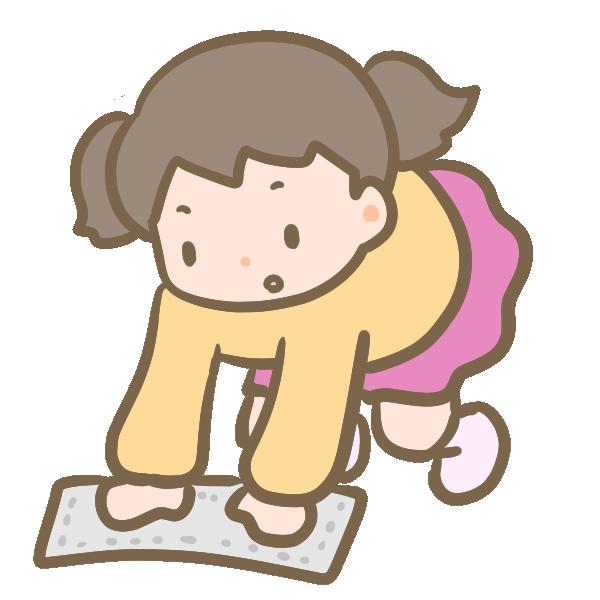大掃除をする女の子のイラスト