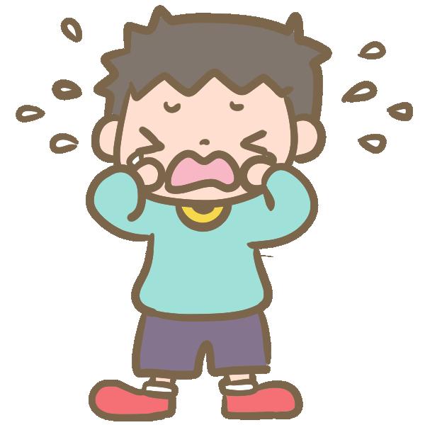 泣く男の子のイラスト