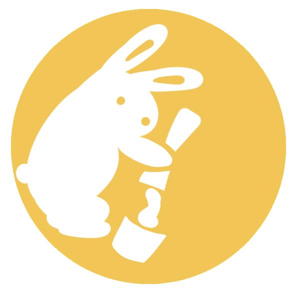 月のウサギのイラスト