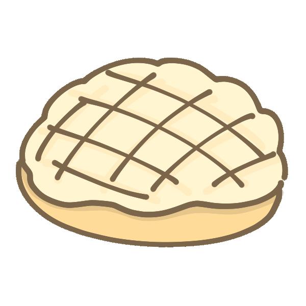 メロンパンのイラスト