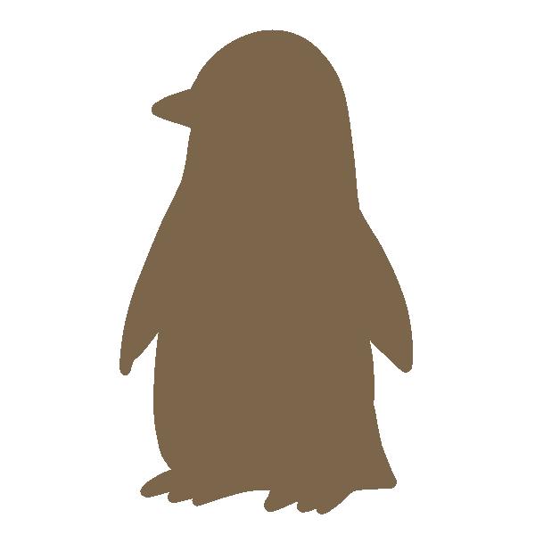 ペンギンのシルエットのイラスト