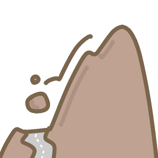 落石のイラスト