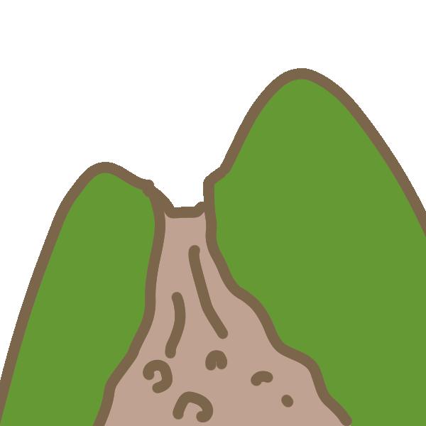 土砂崩れのイラスト