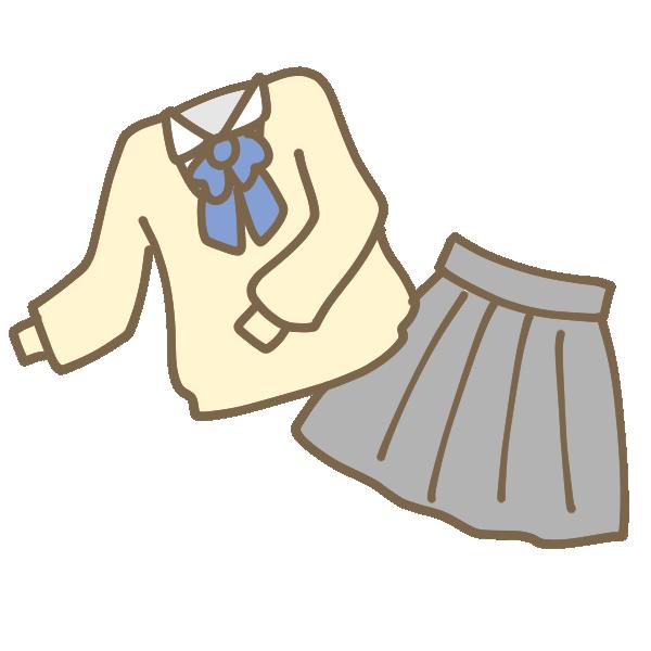 セーターの制服のイラスト