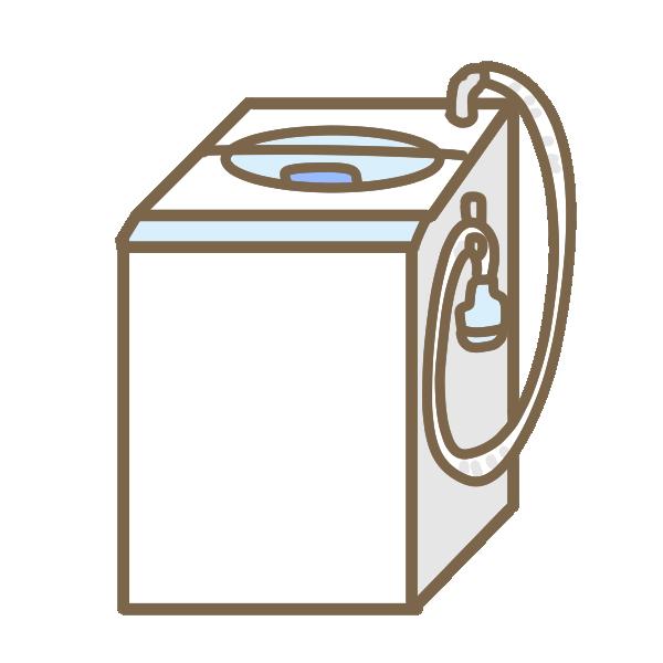 縦型洗濯機のイラスト