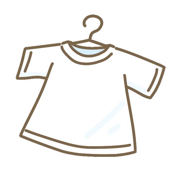 干された白いシャツのイラスト