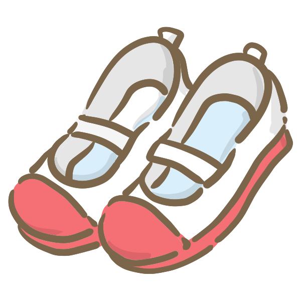 上靴(赤)のイラスト