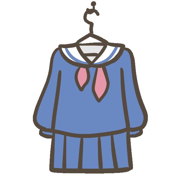新しいセーラー服のイラスト