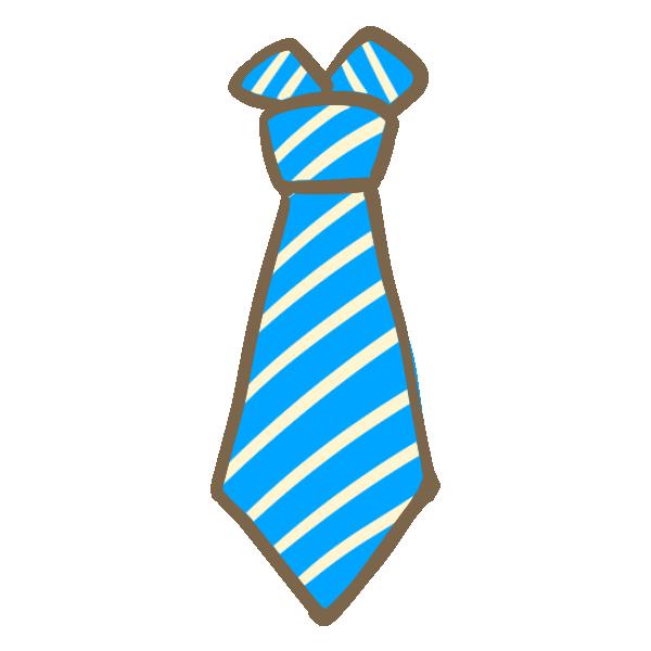 ネクタイ(青)のイラスト