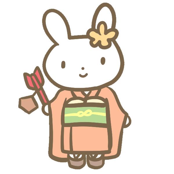 七歳の女の子(ウサギ)のイラスト