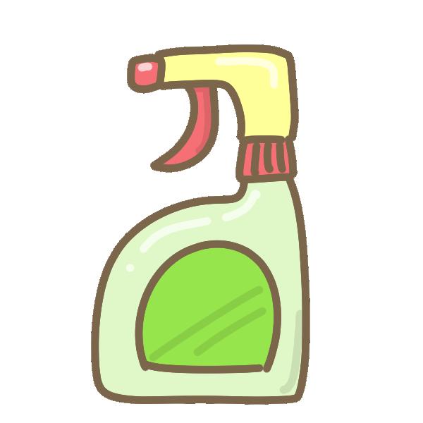 お掃除洗剤のイラスト