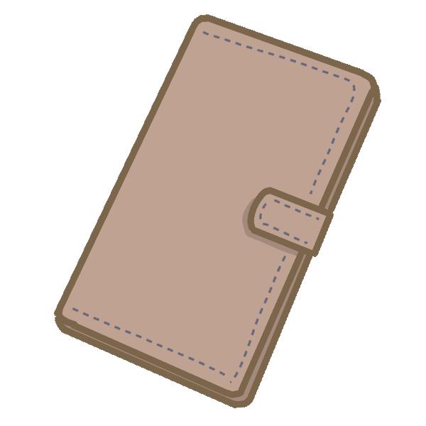 手帳型ケースのスマホのイラスト