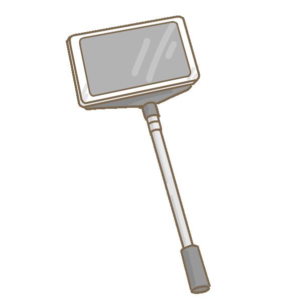 自撮り棒のイラスト