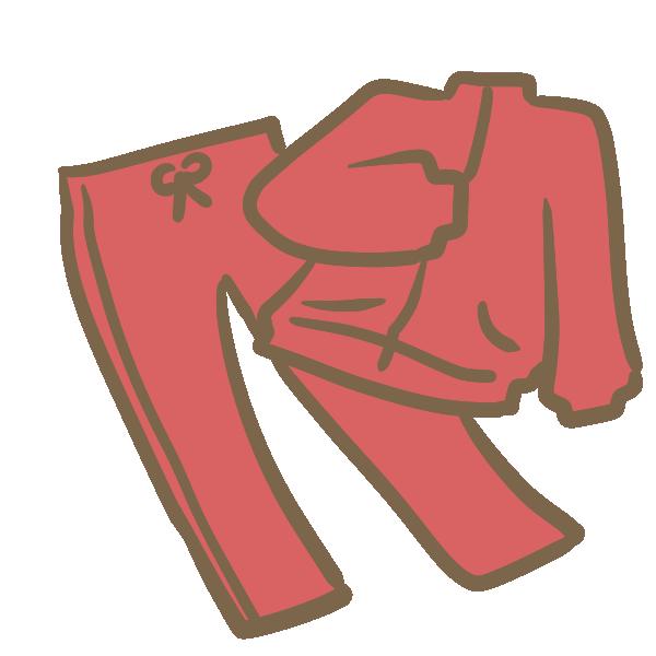 ジャージ(赤)のイラスト