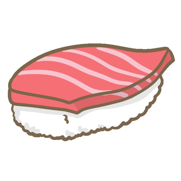 マグロの握り寿司のイラスト