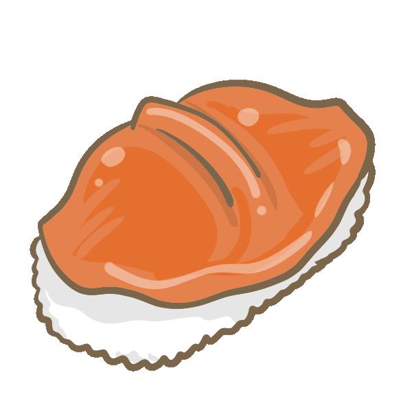 赤貝の握り寿司のイラスト