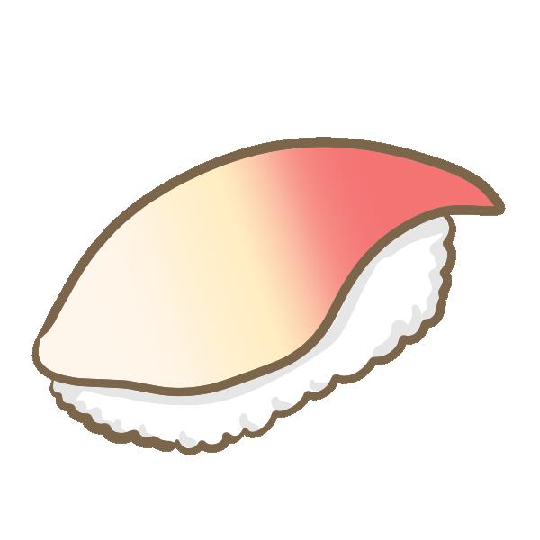 ホッキ貝の握り寿司のイラスト
