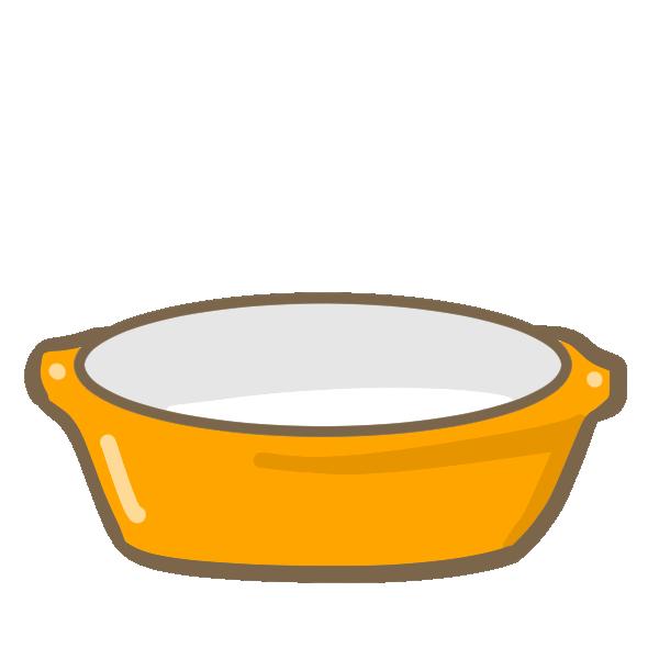 グラタン皿のイラスト