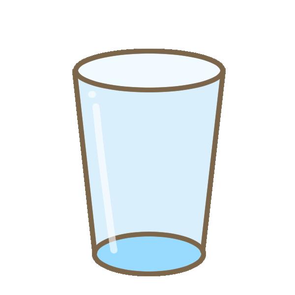 ガラスのコップのイラスト