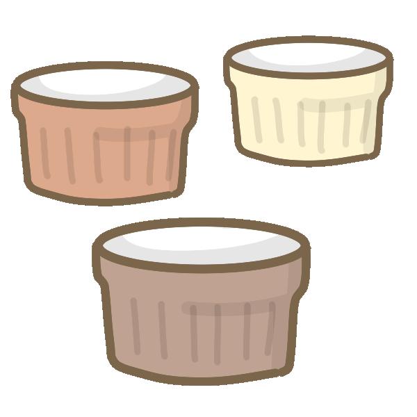 ココット(茶系)のイラスト