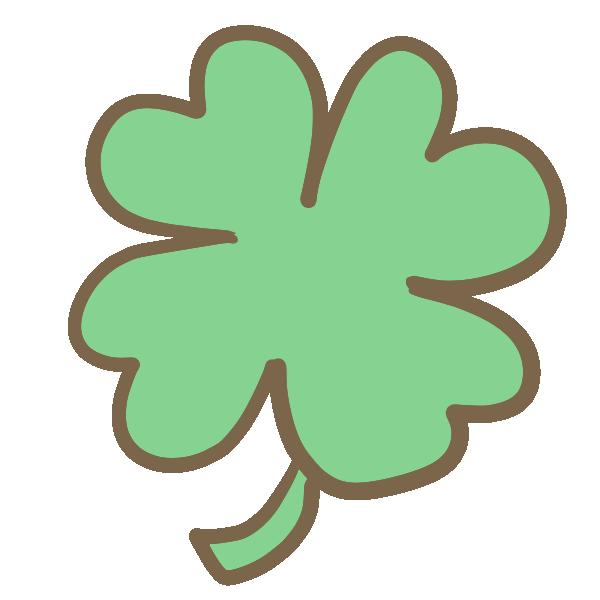 クローバー(緑)のイラスト