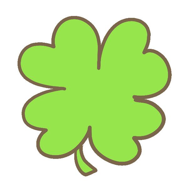 クローバー(黄緑)のイラスト