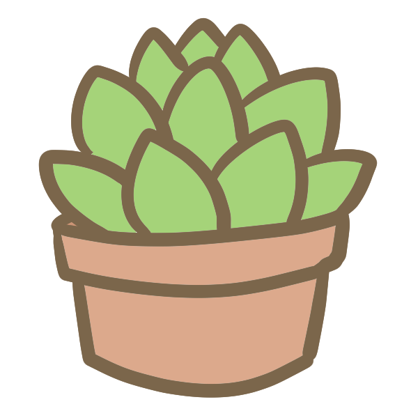 多肉植物(1)のイラスト