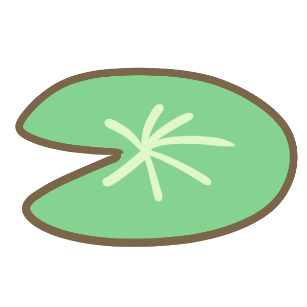 蓮の葉のイラスト