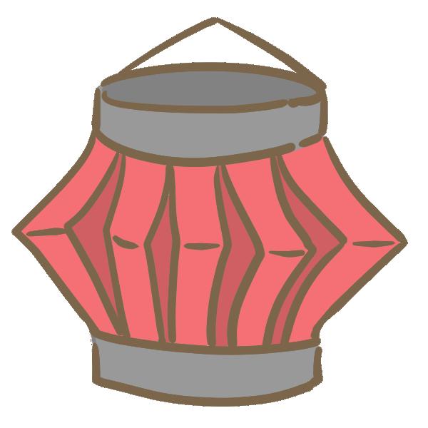 紙の提灯(赤)のイラスト