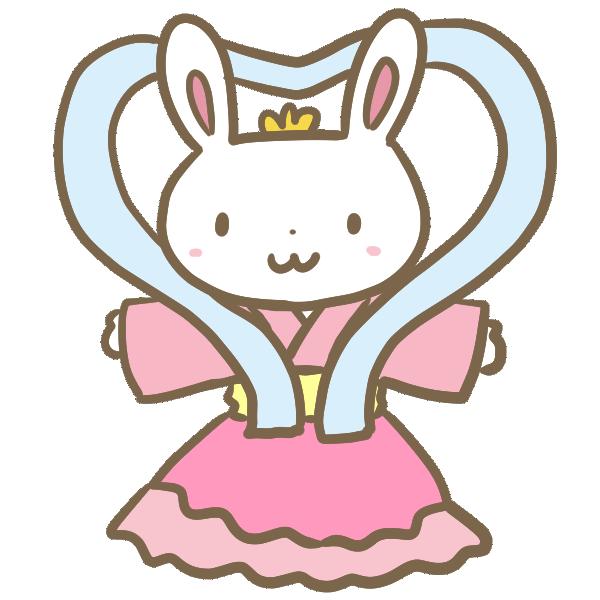 ウサギの乙姫のイラスト